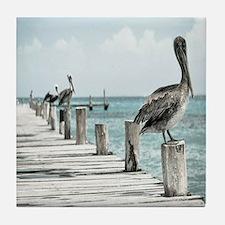 Pelicans Tile Coaster
