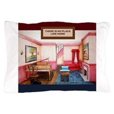 living room with piano for new home Pillow Case