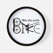 Ride The Trail Bike Graffiti Quote Wall Clock