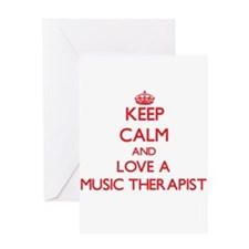 Keep Calm and Love a Music Therapist Greeting Card