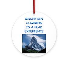 mountain climbing Ornament (Round)