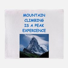 mountain climbing Throw Blanket