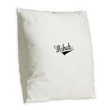 Wishek, Retro, Burlap Throw Pillow