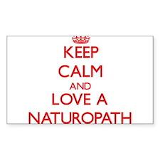 Keep Calm and Love a Naturopath Decal