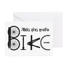 Ride The Trail Bike Graffiti Quote Greeting Cards