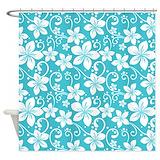 Aqua color Shower Curtains