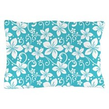 Plumeria Blue Curacao Pillow Case