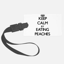 Keep calm by eating Peaches Luggage Tag