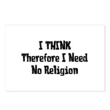 Don't Need Religion Postcards (Package of 8)