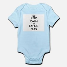 Keep calm by eating Peas Body Suit