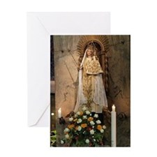 Madonna And Child Aachen Card Greeting Cards