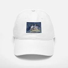 Watercolor California Quail Birds Hat