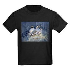 Watercolor California Quail Birds T-Shirt