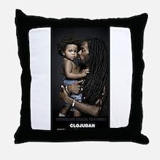 CLOJudah Fathers Throw Pillow