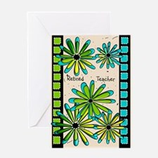 Retired Teacher Floral Greeting Cards