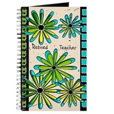 Retired Teacher Floral Journal