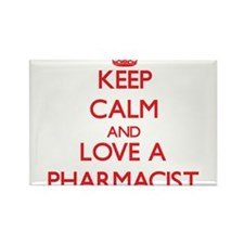 Keep Calm and Love a Pharmacist Magnets