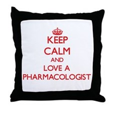 Keep Calm and Love a Pharmacologist Throw Pillow