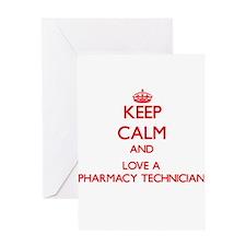 Keep Calm and Love a Pharmacy Technician Greeting