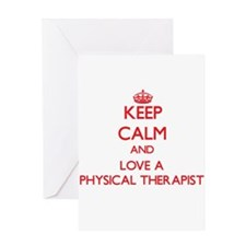 Keep Calm and Love a Physical Therapist Greeting C