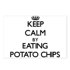 Keep calm by eating Potato Chips Postcards (Packag
