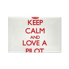 Keep Calm and Love a Pilot Magnets