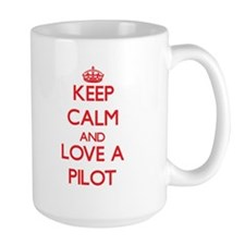 Keep Calm and Love a Pilot Mugs