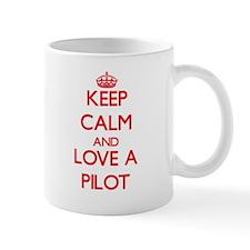 Keep Calm and Love a Pilot Mugs