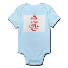 Keep Calm and Love a Pilot Body Suit
