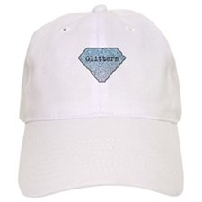 Silver Blue Glitters Sparkles Texture Baseball Baseball Cap