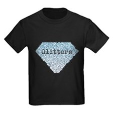 Silver Blue Glitters Sparkles Texture T-Shirt