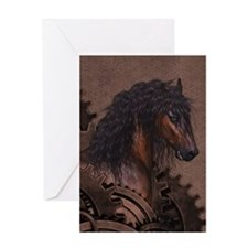 Steampunk Horse Greeting Cards