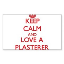 Keep Calm and Love a Plasterer Decal