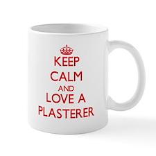 Keep Calm and Love a Plasterer Mugs