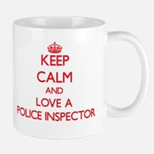 Keep Calm and Love a Police Inspector Mugs