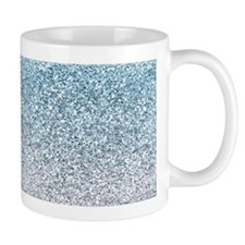 Silver Blue Glitters Sparkles Texture Mugs