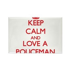 Keep Calm and Love a Policeman Magnets