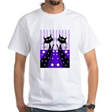 Eve black cat shoes purple T-Shirt