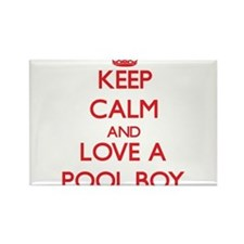 Keep Calm and Love a Pool Boy Magnets