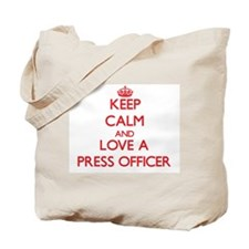 Keep Calm and Love a Press Officer Tote Bag