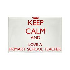 Keep Calm and Love a Primary School Teacher Magnet