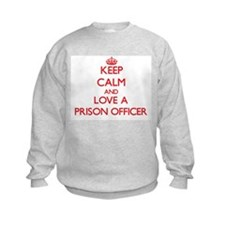 Keep Calm and Love a Prison Officer Sweatshirt
