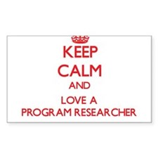 Keep Calm and Love a Program Researcher Decal