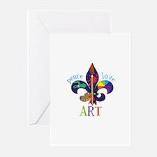 Peace Love Art Greeting Cards
