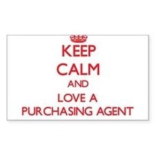 Keep Calm and Love a Purchasing Agent Decal