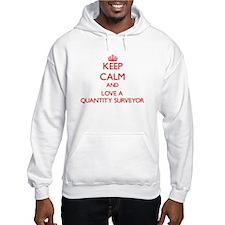 Keep Calm and Love a Quantity Surveyor Hoodie