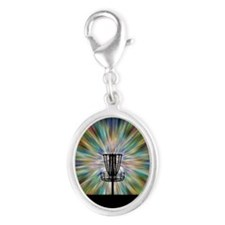 Disc Golf Basket Silhouette Charms