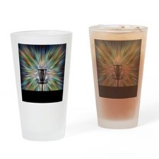 Disc Golf Basket Silhouette Drinking Glass