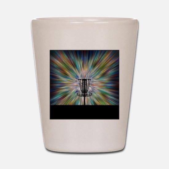 Disc Golf Basket Silhouette Shot Glass