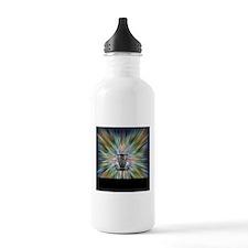 Disc Golf Basket Silhouette Water Bottle